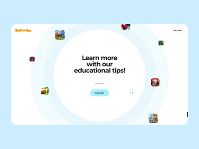 Papumba Web Interaction learning game preschooler kids education animation academy interaction web interface design illustration graphics icons ux ui cuberto
