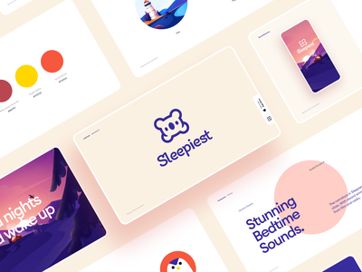 Sleepiest Rebranding storytelling bedtime drawing character sleep font typography branding logo vector illustration app graphics ux icons ui cuberto