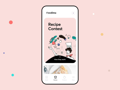 Cooking App Interaction tap recipe book cooking interaction liqueur animation mobile ios illustration app graphics icons ux ui cuberto