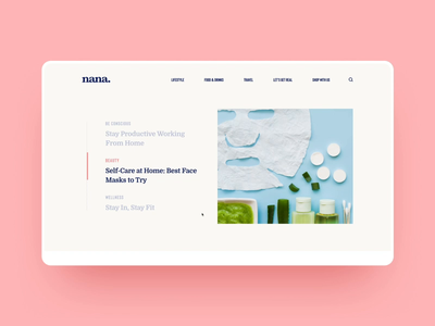 Nana Asia Site of the Day on CSS Design Awards gallery scroll interaction animation photo woman asia modern lifestyle trend fashion web illustration app graphics icons ux ui cuberto