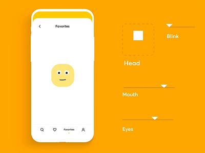 Friendly Empty State joystick friendly empty yellow emotions smile emoji mobile illustration app graphics icons ux ui cuberto