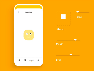 Friendly Empty State joystick friendly empty yellow emotions smile emoji mobile illustration app graphics icons ux ui cuberto