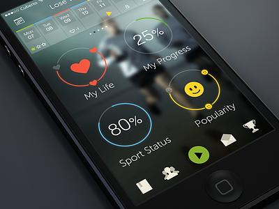WIP fitness app iOS 7 icon cuberto illustration app iphone ux fitness weight calendar ui ios ios7