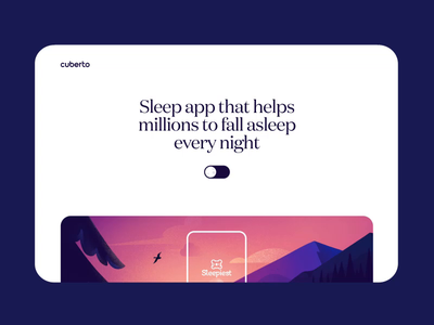 Case Study: The Sleeping App animation branding interaction alarm bedtime sleep scroll case study mobile ios design app illustration graphics icons ux ui cuberto
