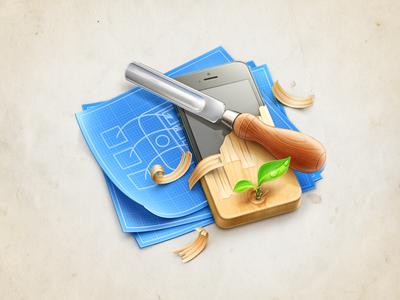 Graphic illustration cuberto icons illustration macos