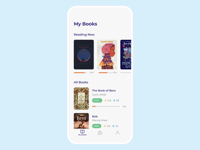 Rally Reader App Interaction typography text word transcription board categories book kids reader mobile ios illustration app graphics icons ux ui cuberto