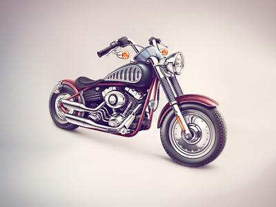 Motorbike illustration cuberto icons illustration sketches graphics