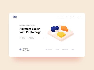 Punto Pago Website Interaction bank recent panama cash system termina payment transaction web design illustration graphics icons ux ui cuberto