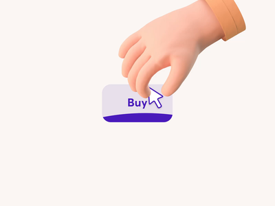 Pushy call-to-action after effects motion drag and drop push web call to action cursor hand button graphics icons ux ui cuberto