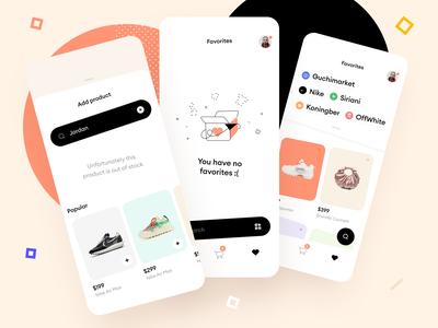 One Shopping Cart for Everything favorite illustraion layout purchases category brand product cart stock shop ecommerce mobile app graphics icons ux ui cuberto