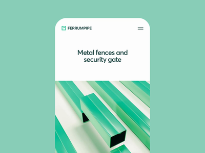 Ferrumpipe Mobile Version color user experience scroll mobile security gate fence ferrum pipe metal motion illustration app icons ux ui cuberto