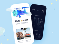 The Fastest Private Charters booking cloud vacation mobile fast airport charter trip duration jet flight ios design illustration app icons ux ui cuberto