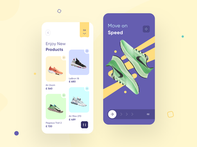 Smart Shopping Showcase product goods comfortable nike shop ecommerce sneakers showcase mobile interface ios illustration app graphics icons ux ui cuberto