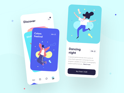 Local Event App Design user experience entertainment concert festival mobile conference meetup ticket event ios app graphics icons ux ui cuberto