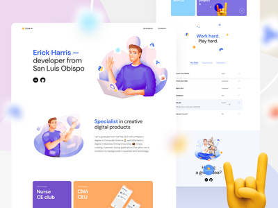 Personal website for one of our clients product specialist developer landing page portfolio personal web design illustration app graphics icons ux ui cuberto