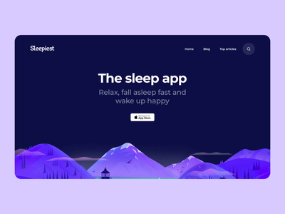 Sleepiest Website animation landing page sleep smooth scroll css development interaction interface illustration web graphics icons ux ui cuberto