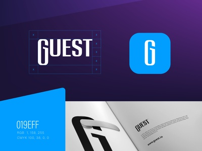 Guest Branding room paper strategy idenity brandbook resident hotel guest logo typography vector branding graphics icons ux ui cuberto