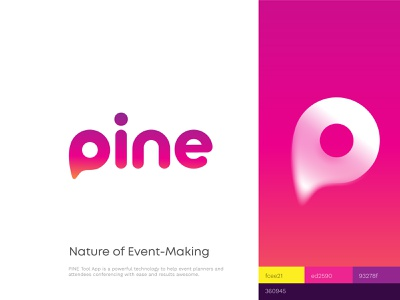 Pine Branding / Event Planner App tool map pin planner event brand identity typography vector logo branding illustration graphics icons ux ui cuberto