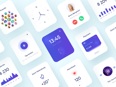 Refreshing UI for a watch app ui kit ui design mobile ui watch user experience design user interface design uiux ux ui cuberto