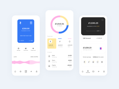 Roava App Design receipt account card payment banking ui design usability design mobile user experience user app icons ux ui cuberto