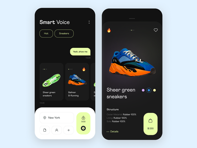 Smart Shopping Showcase showcase ios mobile sneakers goods product design interface usability user experience illustration app icons ux ui cuberto