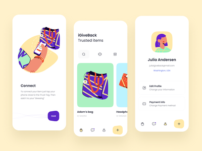 iGiveback UI design concept clothes track giver user experience usability design interface mobile ios illustration app ux ui cuberto