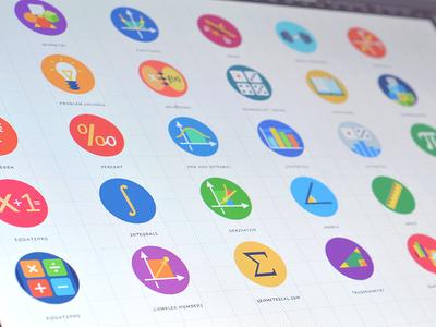 Set of icons graphics illustration icons design ux cuberto app ios iphone ui