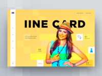 iine card landing page concepts