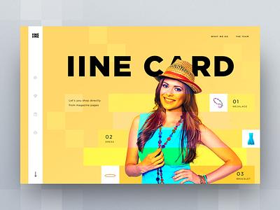 iine card landing page concepts landing web motion animation icon design ux cuberto app ui