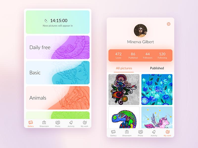 Digital coloring app
