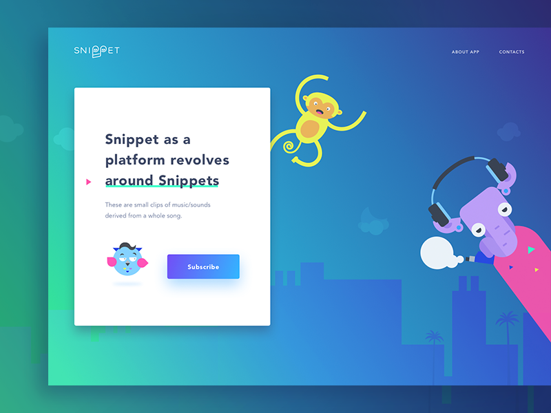 Snippet landing page