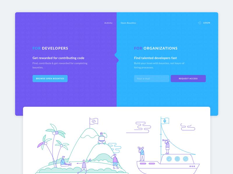 Design concept for status.im web branding graphics cuberto illustration logo sketch icons ux ui