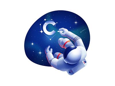 Cuberto's site illustration #2 paint design graphic cosmonaut web site cuberto sketch illustration ux ui
