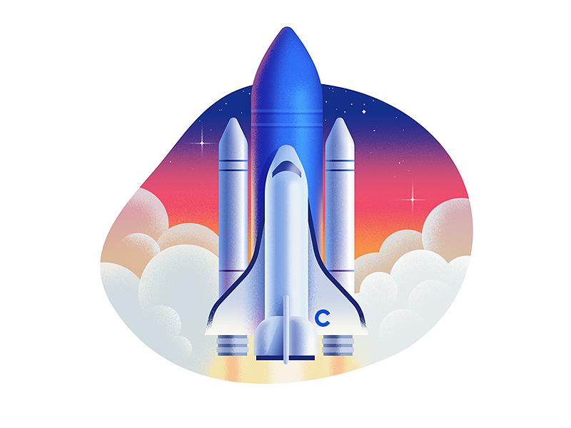 Cuberto's site illustration #4 rocket graphics web cuberto illustration landing sketch icons ux ui