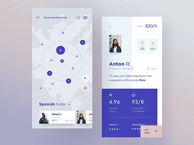 Service providers marketplace service design ios interface graphics cuberto illustration app sketch icons ux ui
