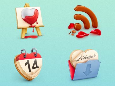 Free St. Valentine's icon set icons illustration st. valentines day