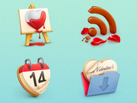 Free St. Valentine's icon set