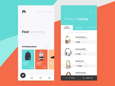 E-commerce UI app filter cart product store online ecommerce illustration icons app cuberto ux ui