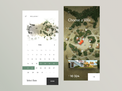 Direct Hotel Reservation travel date reservation hotel cuberto illustration app sketch icons ux ui