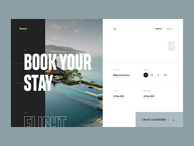 Luxury Hotel Landing Page page travel booking hotel web cuberto illustration landing sketch icons ux ui