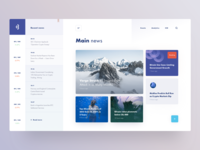 Design concept for the news website