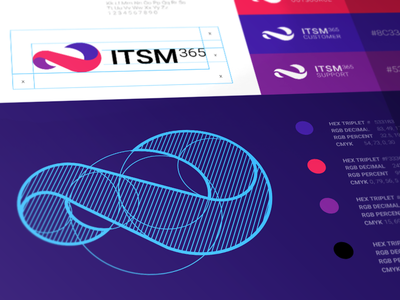 Branding for Service Desk System brandbook icon vector desk system graphics services cuberto illustration branding logo ui