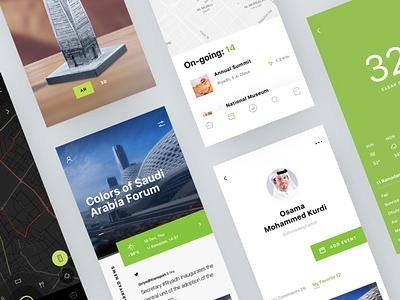 Riyadh app UI interface build graphics ios cuberto city app sketch icons ux ui