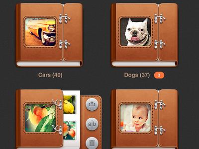Photoalbum's controls for UI iPad photo ipad app ui photoalbum button interface