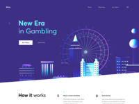 ICO Landing Page for Gambling
