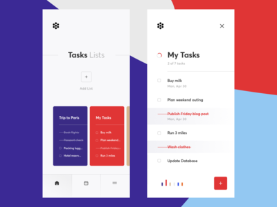 Redesign of Task Manager button life style list graphics task cuberto todo app sketch ux ui