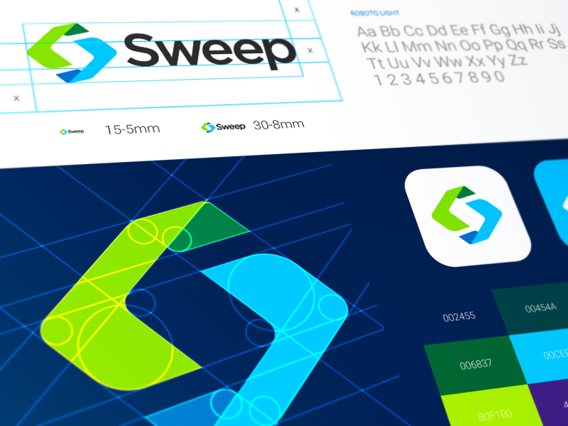 Sweep Logo Design web branding graphics cuberto illustration logo sketch icons ux ui