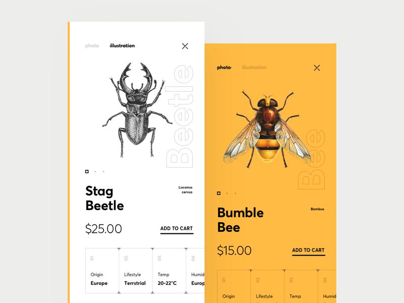 Biological Control Natural Pollination App app natural biological bee iphone design map interface cuberto ios ux ui
