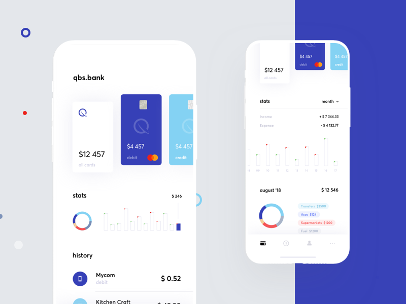 Banking app statistics ecommerce finance graphics app cuberto card bank sketch charts ux ui