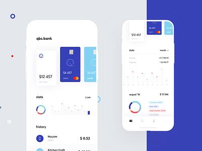 Banking app statistics ecommerce finance graphics app cuberto card bank sketch charts ux ui